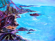 Scenic Drive Paintings - Nova Scotia Shore by Christy Usilton