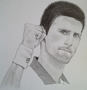Novak Djokovic Art - Novak Djokovic by Andrew Nelson