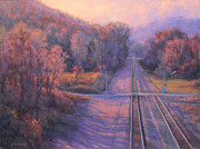 Asheville Pastels Prints - November Crossroads Print by Joe Mancuso