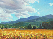 Autumn Vineyards Paintings - November Gold by Paul Youngman