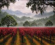California Vineyard Paintings - November by Patrick ORourke