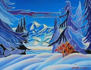 Canadian Winter Art Posters - November Snow Poster by Santo De Vita