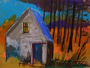 Blue Window Pastels - November Sunset by John  Williams