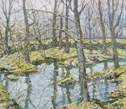 Reflecting Water Prints - November  Print by Walter Elmer Schofield