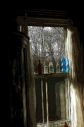Antique Bottles Posters - November Window II Poster by Ross Powell