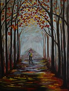 Lighted Pathway Prints - Now And Forever Print by Leslie Allen