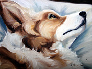Relax Paintings - Now I Lay Me Down by Mary Sparrow Smith