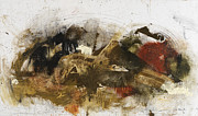 Abstract Art In Earthtone Colors Prints - Now Youre Pushing It.. Print by Michel  Keck