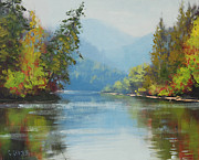 Canada Paintings - Nrkite River Canada by Graham Gercken