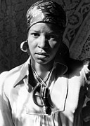 Head Wrap Framed Prints - Ntozake Shange, Ca. 1977 Framed Print by Everett