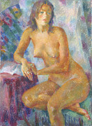 Nudes Paintings - Nu 82 by Leonid Petrushin