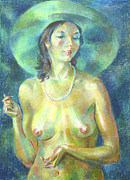 Model Pastels Originals - Nu 89 by Leonid Petrushin
