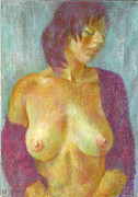 Model Pastels Originals - Nu 95 by Leonid Petrushin