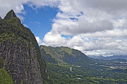 Nu Nature Prints - Nu uanu Pali Valley Overlook on Oahu Island Hawaii  Print by Brendan Reals