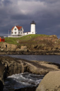 Nubble Lighthouse Posters - Nubble Light 1 Poster by Wayne Dion