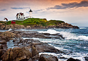 Maine Lighthouses Posters - Nubble Light Poster by Fred LeBlanc