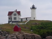 Nubble Light House Prints - Nubble Light House York Maine Print by Joy Bradley                   DiNardo Designs