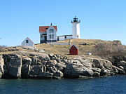 Nature Photography - Nubble Light by Lynn-Marie Gildersleeve