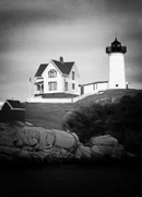 Nubble Light Posters - Nubble light Poster by Tom Prendergast