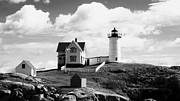 Cape Neddick Lighthouse Digital Art Posters - Nubble Lighthouse - Cape Neddick Maine Poster by Christy Bruna