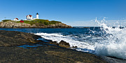 York Maine Prints - Nubble Lighthouse Print by Andrew Kubica