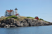 Nubble Lighthouse Posters - Nubble Lighthouse Cape Neddick Poster by John Small