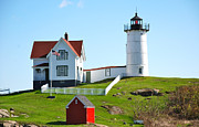 Nubble Light House Prints - Nubble Lighthouse Print by Eric Tressler