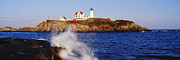 Nubble Lighthouse Framed Prints - Nubble Lighthouse in Daylight Framed Print by Jeremy Woodhouse