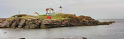 Nubble Lighthouse Photo Metal Prints - Nubble Lighthouse Metal Print by Jack Schultz
