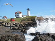 Martin Rogers - Nubble Lighthouse with...