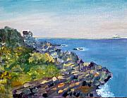 Nubble Lighthouse Painting Metal Prints - Nubble Point Metal Print by Dillard Adams