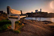 Nubble Lighthouse Prints - Nubble Seat Print by Emily Stauring