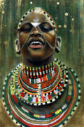 African American Pastels - Nubian Dream by Gary Williams