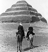 Libyan Dessert Posters - Nubian Soldiers Passing the Step Pyramid - Egypt - c 1896 Poster by International  Images