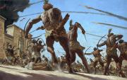 National Geographic Society Art Prints - Nubian Troops Storm The Walled Capital Print by Gregory Manchess
