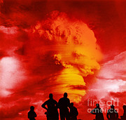 Color Enhanced Framed Prints - Nuclear Detonation Framed Print by Omikron