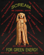 Scream Mixed Media Posters - Nuclear Energy Poster by Eric Kempson