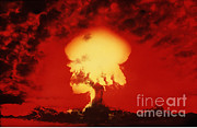 Nuclear Energy Photo Posters - Nuclear Explosion Poster by U.S. Navy / Science Source