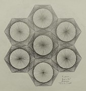 Pi Drawings Originals - Nuclear Fusion by Jason Padgett