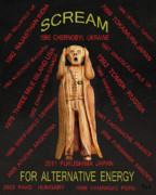 The Scream Mixed Media Prints - Nuclear Power Print by Eric Kempson