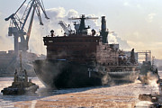 Seagoing Prints - Nuclear-powered Icebreaker, Russia Print by Ria Novosti