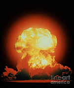 Nuclear Energy Photo Posters - Nuclear Test Explosion Poster by DOE / Science Source