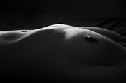 Black Top Acrylic Prints - Nude - III Acrylic Print by Ilker Goksen