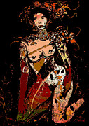 Knealing Posters - Nude 10 Poster by Natalie Holland