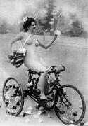Nude Photograph Prints - NUDE AND BICYCLE, c1900 Print by Granger