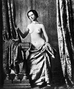 Drapery Photo Prints - NUDE AND CURTAINS, c1850 Print by Granger