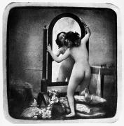 Daguerreotype Framed Prints - NUDE AND MIRROR, c1850 Framed Print by Granger
