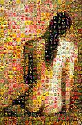 Photomosaic Prints - Nude back Print by Gilberto Viciedo