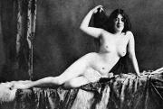 Nude Photograph Framed Prints - Nude Bather, 1905 Framed Print by Granger
