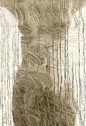 Nude Behind Soaped Window Print by Joe Bonita